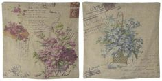 "Set de perne decorative ""Lavanda"" - perne rustice Vintage World Maps, Sweet Home, Shabby Chic, Boutique, Retro, Floral, House Beautiful, Florals, Retro Illustration"