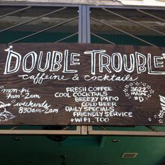 Double Trouble in Midtown, Houston  Get your sip on.   3622 Main St, Houston, TX 77006 (713) 874-0096