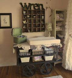 cute baby changing table - i tell you people just have the most fab ideas !!