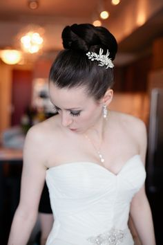 A Regal Purple Themed Seattle Wedding From GH Kim Photography - updo wedding hairstyle