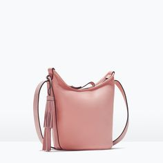 LEATHER BUCKET BAG WITH TASSEL-Messenger bags-Handbags-WOMAN | ZARA United States