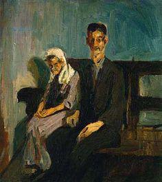 Alice NEEL – Beggars, Havana, Cuba, 1926, Oil on Canvas, 50.8x45.7 cm, Private Collection