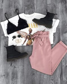 Perfect casual look by styling our 'Alice Pants' 💕☀️👉 . Cute Comfy Outfits, Simple Outfits, Trendy Outfits, Fall Outfits, Fashion Outfits, Sporty Fashion, Mod Fashion, Girl Fashion, Look Rose
