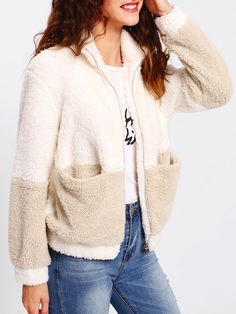 Cut+And+Sew+Faux+Fur+Jacket+25.00
