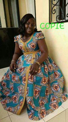 Top Zambian chitenge Dresses - Reny styles Source by eunieotchoumou Long African Dresses, Latest African Fashion Dresses, African Print Dresses, African Print Fashion, Chitenge Dresses, African Blouses, African Traditional Dresses, African Design, African Attire