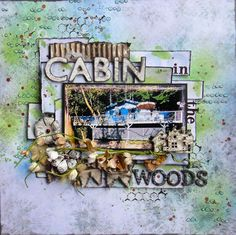 """Jackie Clark aka Jax as Scraps of Brilliance for 13 Arts at the Flying Unicorn; """"Cabin in the Woods""""; June 2013"""