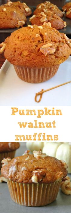 Moist, comforting and a little nutty. These pumpkin walnut muffins will spice up any chilly morning