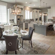 43 Trendy Kitchen Layout With Island House Plans Dining Rooms Living Room Kitchen, Home Decor Kitchen, Home Kitchens, Kitchen Grey, Kitchen With Grey Walls, Kitchen Ideas, Küchen Design, Layout Design, House Design