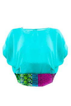 African print crop top in chiffon by @Ohe Kristacha OHENE