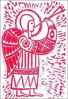 Christmas Card. Hand-printed Linocut Christmas Icons, Diy Christmas Cards, Christmas Images, Christmas Design, Xmas Cards, Christmas Projects, Linocut Prints, Art Prints, Linoprint