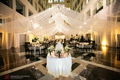 The Atrium at the Curtis Center | Amanda + Clive » Jennifer Childress Photography