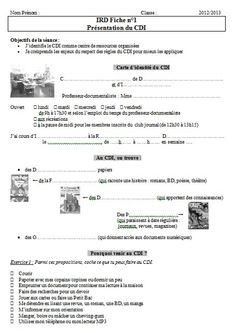 Fenetre sur Présentation du CDI page 1 http://fenetresur.wordpress.com/2012/11/01/ird-6e-presentation-du-cdi-seance-1/