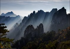morning in the mountains of Huangshan