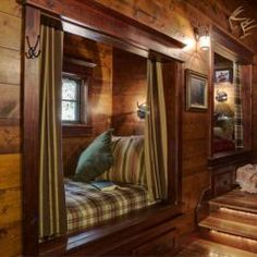 great idea for sleeping spaces in a small cabin.
