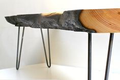 eco furniture: reclaimed bowling alley and bowling pin table - The Alternative Consumer