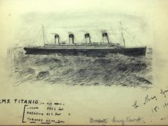 This elegantly illustrated page was taken from a hand-written book by Titanic passenger Laura Marie Cobb. The book related Cobb's account of the disaster.