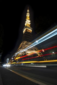 Tokyo Tower with light streaks Pinterest users can get 20% off the ebook with this code: PINT20