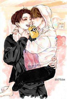 Our Omega Leadernim // ( Webtoon çeviri) Vhope Fanart, Fanart Kpop, Yoonmin Fanart, Jimin Fanart, Foto Bts, Busan, A Silent Voice, Cute Gay Couples, Fanarts Anime