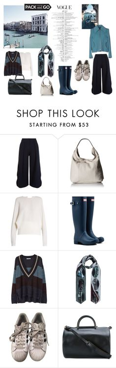 """Venice in the Winter"" by eimerchef ❤ liked on Polyvore featuring Roksanda, Rebecca Minkoff, Carl Kapp, Hunter, MANGO, Bianca Elgar, adidas, Building Block, Carven and rubberboots"