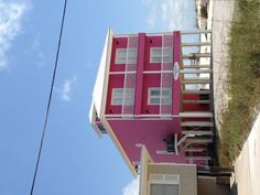 Hot pink beach house in gulf shores Alabama! In love.