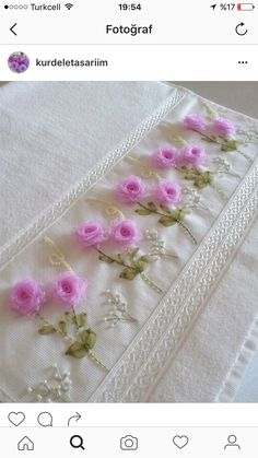 Ribbon Work, Silk Ribbon, Victorian Fashion, Hand Towels, Fabric Flowers, Embroidery, Sewing, Tape Art, Satin Flowers