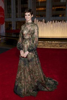 Best Dressed: Anne Hathaway in Valentino, Jessica Paré in Jason Wu and More: Anne Hathaway in Valentino at the New York City Ballet