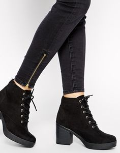 Need --- Lace Up Heeled Boots