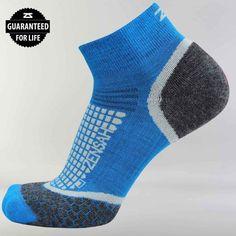 Zensah Unisex Wool Running Socks Ankle Athletic Sport Sock, Black, Small