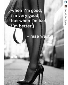 Every good girl wants to be bad and treated a Queen. Dangerous Love, Dangerous Woman, Bad Gyal, Marathon Laufen, Haha, Sunday Quotes Funny, Sarcastic Quotes, Insta Baddie, Mae West