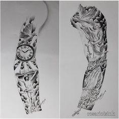 Resultado de imagem para full sleeve tattoo stencils