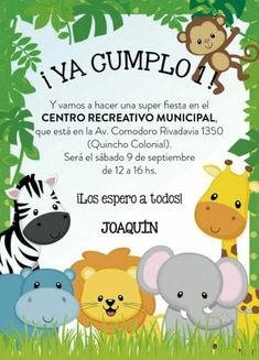 Custom Printed Wild Animals, Jungle, Safari Baby Shower Invitations - each with envelope - Welcome to our website, We hope you are satisfied with the content we offer. Jungle Theme Birthday, Safari Birthday Party, Jungle Party, Shower Bebe, Baby Boy Shower, Safari Jungle, Safari Theme, Baby Shower Invitations, Wild Animals