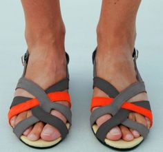 made to order color blocked sandals