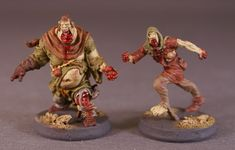 I finally completed my first Zombicide Black Plague Runner & Fatty figures. I must say I am really impressed with the Fatty models in part. Zombicide Black Plague, Board Games, Medieval, Lion Sculpture, Colours, Fantasy, Statue, Painting, Art