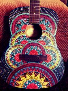 painted ukulele front designs - Google Search