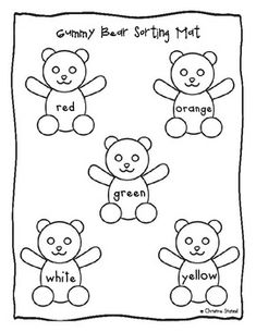 Gummy Bear Sorting Graphing Activity