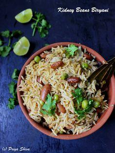 Rajma Biryani - aromatic Vegetarian #biryani with kidney beans and spices!