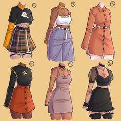 Edgy Outfits, Anime Outfits, Cute Casual Outfits, Fashion Outfits, Mean Girls Outfits, Fashion Design Drawings, Fashion Sketches, Dress Design Sketches, Kleidung Design