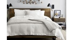 Atwood Bed without Bookcase Footboard | Crate and Barrel
