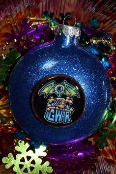 GWAR Glass Glitter Resin Christmas Ornament ooak Holiday Decoration gift Heavy Metal Heavy Metal Christmas, American Horror, Glass Ornaments, Christmas Bulbs, Resin, Glitter, Decoration, Holiday Decor, Handmade