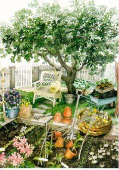 Stoeltje in de tuin