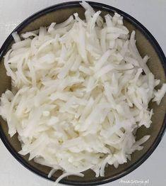 Surówka z białej rzepy, 3 Coleslaw, Coconut Flakes, Side Dishes, Grains, Spices, Veggies, Food, Diet, Recipies