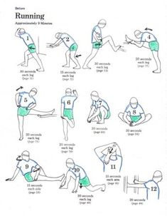 Before running stretches Pre Run Stretches, Stretches Before Running, Running Workouts, Running Tips, Calf Stretches, Stretching Exercises, Fitness Tips, Fitness Motivation, Health Fitness