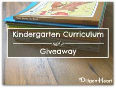 Kindergarten Curriculum and a Giveaway