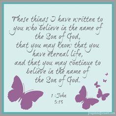 Wednesday Word: Know – 1 John 5:13