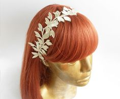 Ivory Bridal Fascinator Vintage Style Feminine by Flowerartstudio, $30.00