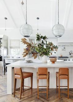 Todays top pins lean toward timeless design in soft neutrals. Check out these clean, sun-drenched spaces with fresh sophisticated updates.
