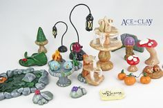 Ace of Clay Fairy Garden Accessories