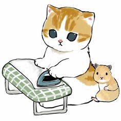 Manga Watercolor, Cat Stickers, Disney Food, Furry Art, Cute Cats, Cute Animals, Teddy Bear, Kitty, Toys