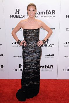 Heidi Klum, Leighton Meester at amfAR New York Gala