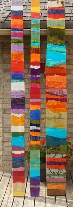 Items similar to Abstract Mixed Media Art Painting Bowed Panels Variety of sizes on Etsy - Malerei Pintura Graffiti, Art Du Collage, Art Diy, Ideias Diy, Art Moderne, Art Plastique, Medium Art, Yard Art, Mixed Media Art